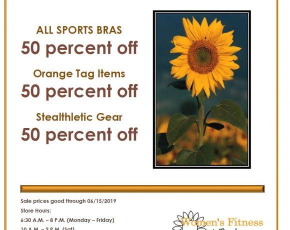 50 Percent Off Clothing Sale